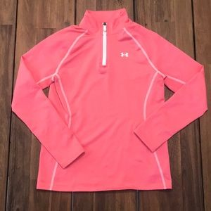 Youth Under Armour Cold Gear Pullover M Pink